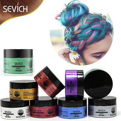 Sevich Temporary/Wash-Out Hair Color Wax Mud Dye Cream Magic 8 Colors for Unisex