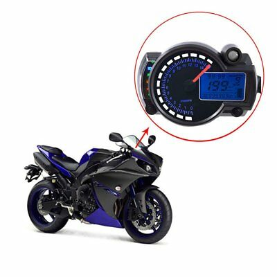 299km/h 15000rpm Motorcycle LCD Digital Speedometer Tachometer Odometer Gauge TO