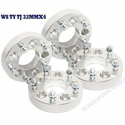 4 Pieces Wheel Spacer 32MM for 87-06 Wrangler/02-13 Liberty 5LUG 5X4.5 5x5 1.25""