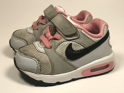 285ad7328507 Nike Air Max W  Strap Baby Girls Toddler Pink Gray Black Sneakers Size Us 5C