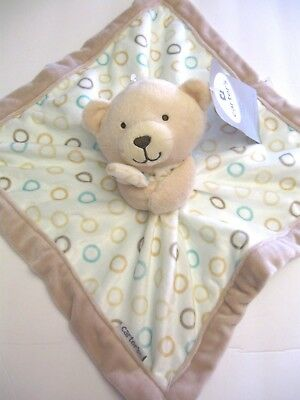 NWT Carter's Bear Circles Security Blanket Lovey Blue White Teal