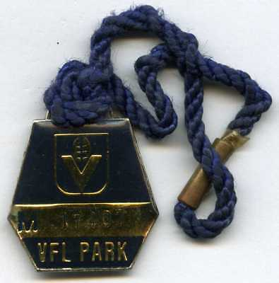 Vfl Victorian Football League Badge Season Pass With Short Cord Attached