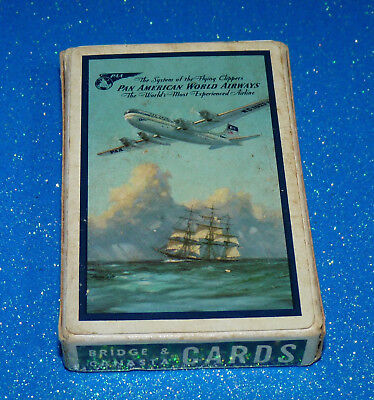 Vintage PAA Flying Boat Pan Am Airlines Playing Cards wings