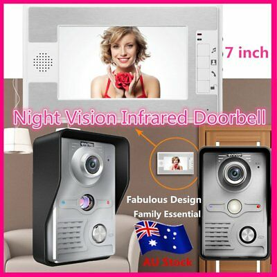 """New 7"""" Wired Video Door Phone Doorbell Home Intercom System Night Vision ZY"""