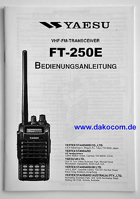 Yaesu FT-250E Original Bedienungsanleitung in Deutsch