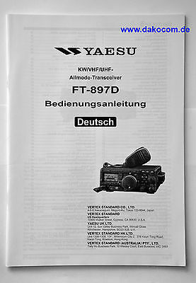 Yaesu FT-897D Original Bedienungsanleitung in Deutsch