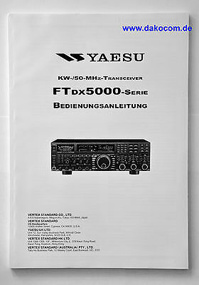 Yaesu FT-DX5000xx Original Bedienungsanleitung in Deutsch