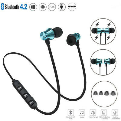 Wireless Magnetic In Ear Earbuds Headphone Bluetooth4.2 Stereo Earphone Headset