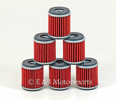 2003-2008 Yamaha YZ250F YZ 250F YZF250 YZF 250 *6 Pack* HiFlo Oil Filters Filter
