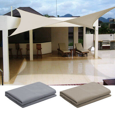 Sun Shade Sail UV Block Waterproof Canopy Patio Pool Awning Top Cover Outdoor US