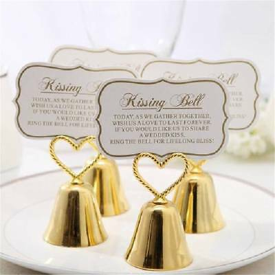 """Creative Table Decoration """"Kissing Bell"""" Place Card Holder Clip Wedding Favors"""