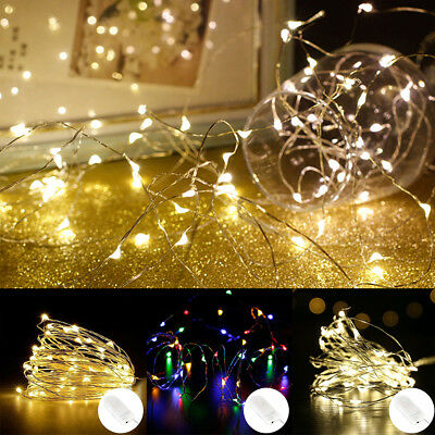 10/30/50 LEDs Battery Rice Wire Copper Fairy String Lights Party Wedding Decor