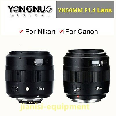 YONGNUO YN EF 50MM F/1 4 Auto & manual Focus Lens For Canon or Nikon