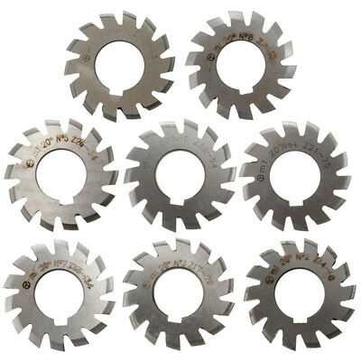8pcs/1pc Diameter 22mm M1 20degree #1-8 HSS Involute Module Gear Milling Cutters