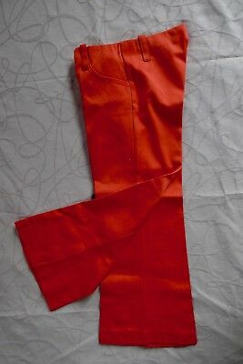 Vintage retro 60s 3 years unused girls toddlers red flares pants NOS