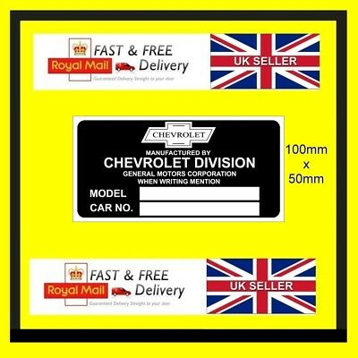 Car ID Identification Tag VIN Plate for Austin Healey Adhesive