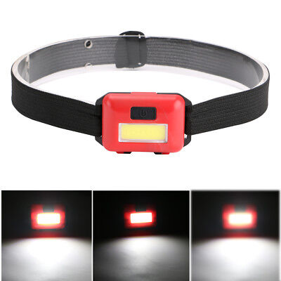 Mini COB LED Headlamp Headlight Torch Light For Fishing Camping Biking Rainproof