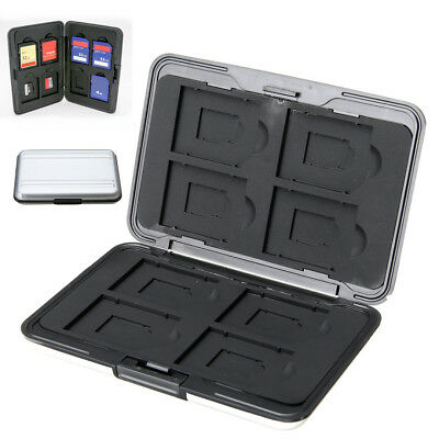 New Aluminum Hard Storage Carrying Case Holder Box For Micro SD SDXC Memory Card