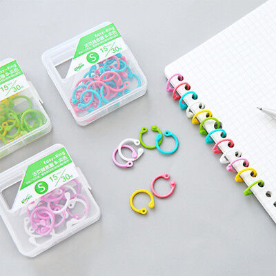 Colored Easy Ring Paper Book Loose Leaf Binder Multi-function Circle Easy Ring