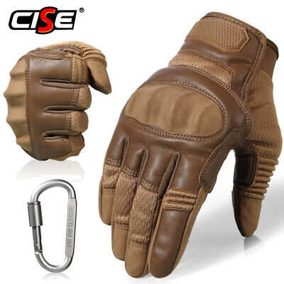 Touchscreen Motorcycle Hard Knuckle Full Finger Gloves Motocross Driving Cycling