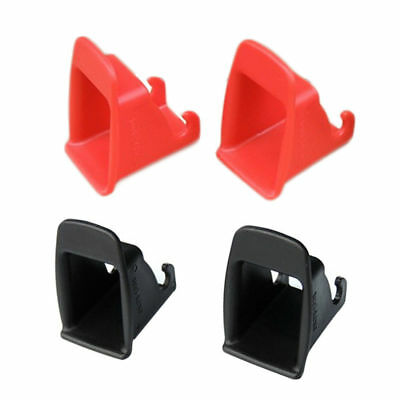 Black/Red 1 Pair Car Baby Seat ISOFIX Latch Belt Connector Plastic Guide Groove