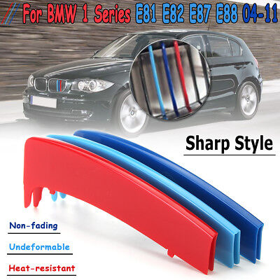 M Color Grille Grill Cover Clip Trim For BMW 1 Series E81 E82 E87 E88 2004-2011