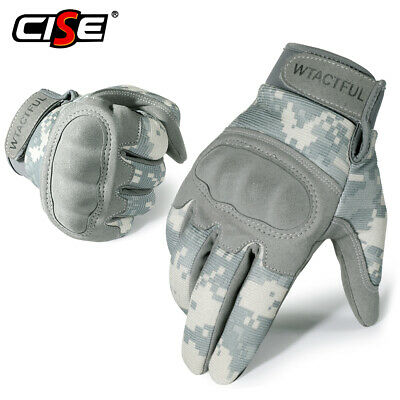 Touchscreen Motorcycle Hard Knuckle Full Finger Gloves Tactical Shooting Hunting
