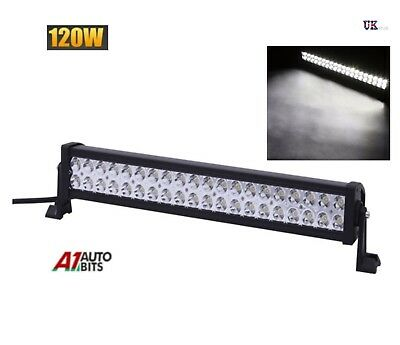 120W 40 Led Light Bar Spot Work Lamp Suv Recovery Pickup Truck 22""