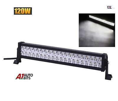 "22"" 120W LED Spot Work Light Roof Bar SUV Front Rear Lamp Waterproof 12v 24v"