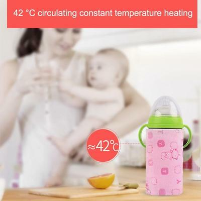 Bottle Warmer Heater Travel Baby Kids Milk Water USB Cover Pouch Soft Portable