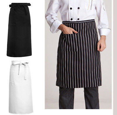 Stylish Kitchen Aprons Half-length Long Waist Catering Chef Waiters Apron Great