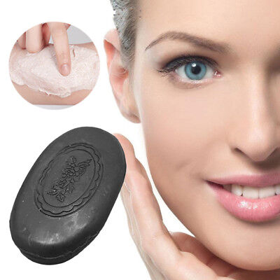 Black Bamboo Charcoal Soap Bath Body Cleaning Face Skin Care Whitening Health