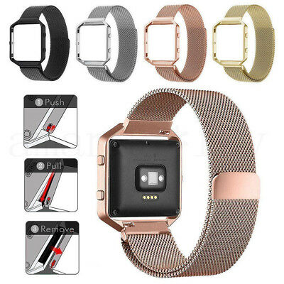 Smart Watch Replacement Milanese Loop Strap Wrist Band+Frame For Fitbit Blaze SD