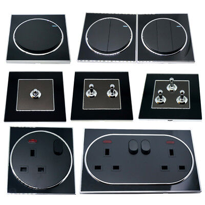 Light Switches & sockets Screwless Face Classic 10A Two way Toggle /13 Amp UK