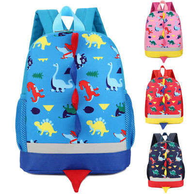 UK Lovely Toddler Baby Boys Girls Dinosaur Pattern Animals Backpacks School Bag