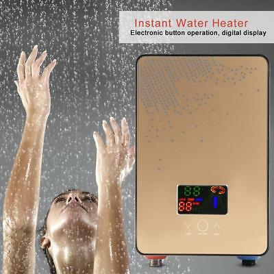 LED Tankless Thermomat Instant Elektric Hot Water Heater Kit with Shower Head