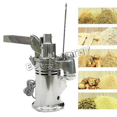 Automatic continuous Hammer Mill Herb Mill Grinder Pulverizer 15kg/h 110V 1000W