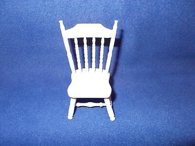 High back white chair w/spindles by Concord, CAR 5080, 1:12 scale, new