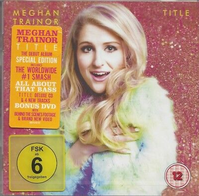 Title by MEGHAN TRAINOR (CD+DVD/SEALED - EPIC 2015) Special Edition - Region:0