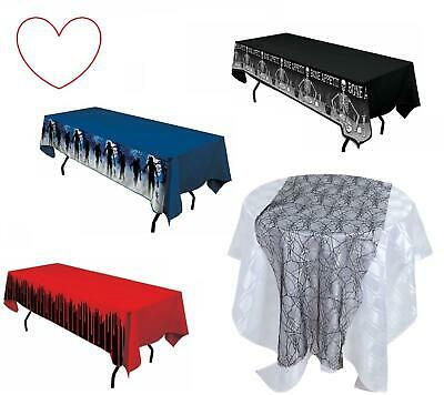Halloween Table Cloth Plastic Covers Decorations Decs Party Supplies