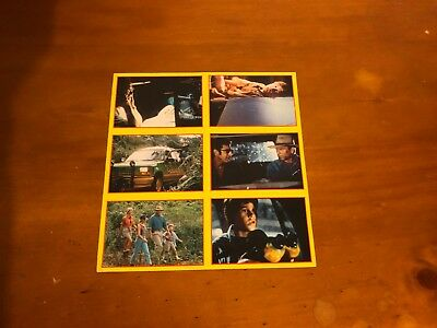 Jurassic Park Merlin Collections 1992 Italy Uncut 6 Sticker Sheet