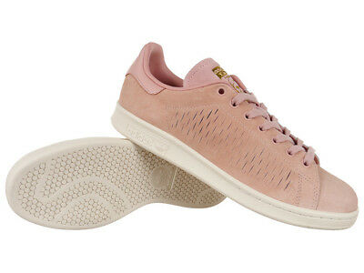 d5c72d44ce7194 Women adidas Originals Stan Smith Shoes Trainers Pink Leather Suede Shoes