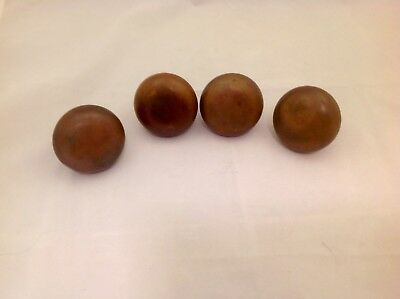 Antique Set Of 4 Brass Matching Door Knobs Smooth Finish