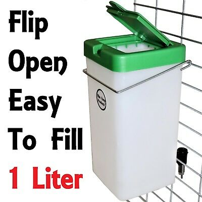 Rite Farm Products 1 Liter Rabbit Bottle Drinker Cage Waterer Water Nipple Lid