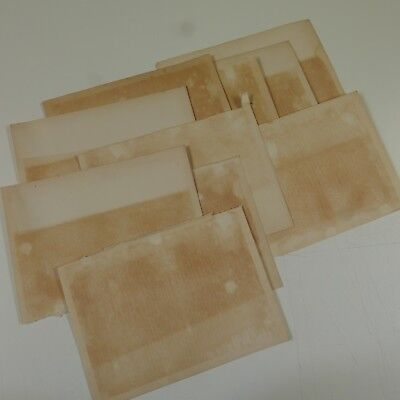 10 sheets genuine reclaimed antique plain paper , heavy age toning & foxing