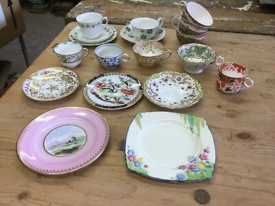 Job Lot Antique Victorian Orphan Tea Cups Saucers Cabinet Collectable
