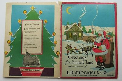 Greetings From Santa Claus Color Bk Bamberger &  Co  Department Store Newark NJ
