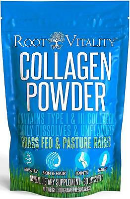 Collagen Peptides (300g) Pasture-Raised, Grass-Fed, Hydrolyzed, Paleo, Keto,
