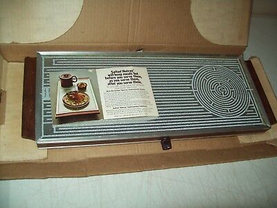 vintage hot electric glass tray American made Salton no. H-123 excellent working