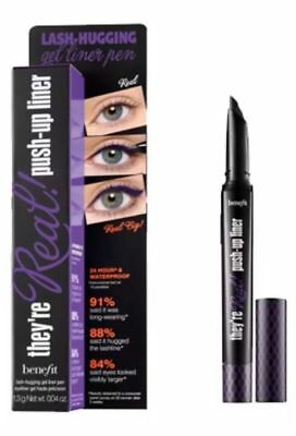 98beabff6e6 Benefit They're Real Push Up Liner Gel Liner Pen Beyond Purple 0.04 oz NIB